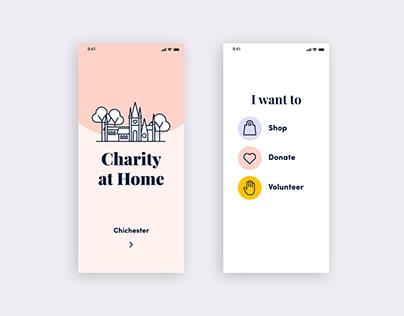 Charity at Home App Design