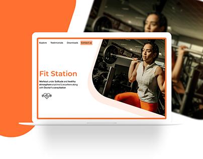 Fitstation - Website Presentation
