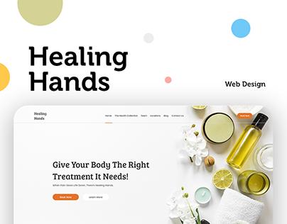 Webpage Design for Healing Hands