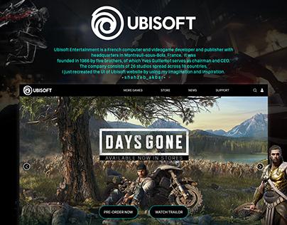 Web UI/UX design   UBISOFT
