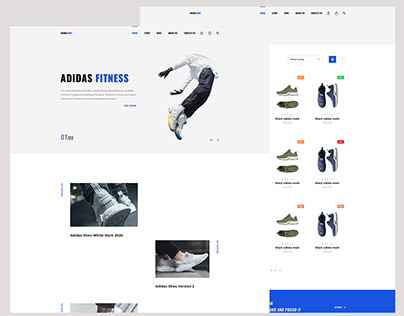 shoes ecommerce website ui ux