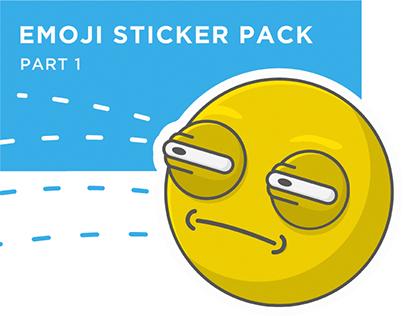 Emoji sticker pack. Part 1