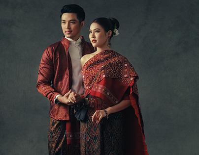 Esan-Thai traditional wedding costumes by Lamoonnee