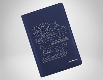 Industrial Leather Notebook Design