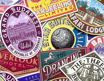 Bon Voyage - Vintage Hotel Travel Stickers