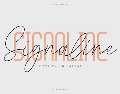 Signaline // Font Duo