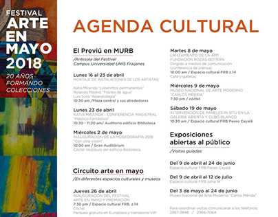 Festival Arte en Mayo 2018 Art Exhibition/Exposición