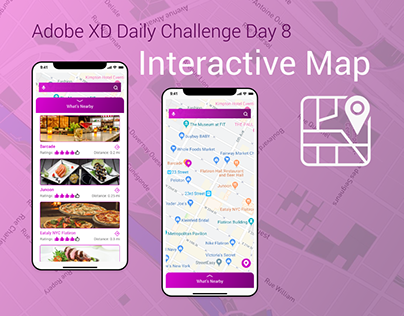 Adobe XD Daily Challenge Day 8 - Interactive Map