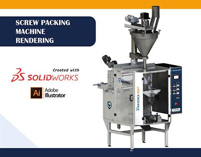 Screw Doser Packing Machine Rendering