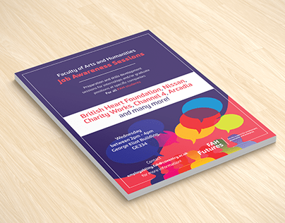 Leaflet design | FAH (Faculty of Arts & Humanities)