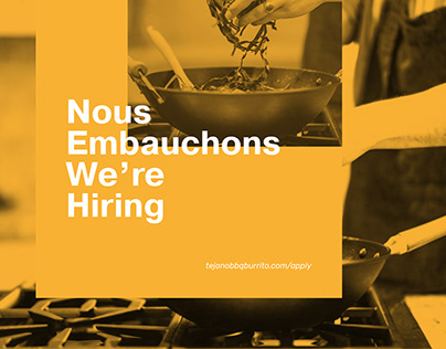 We are hiring - posters design