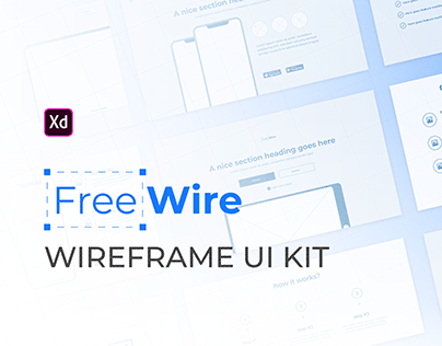 FreeWire - Free Wireframe Kit For Adobe XD