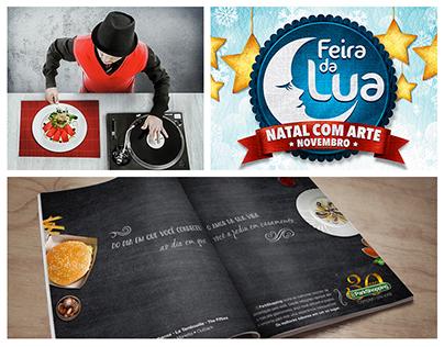 Anúncios para Shopping, Feira e Restaurante