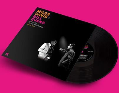 LP Music Artwork Design - Miles Davis & Bill Evans