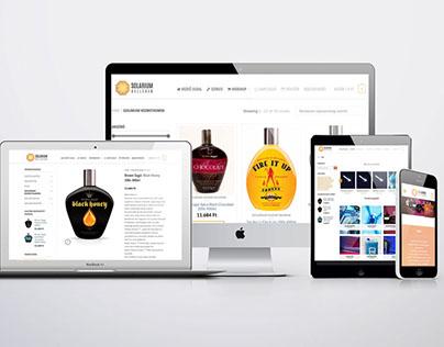 Szolárium kellékek webdesign