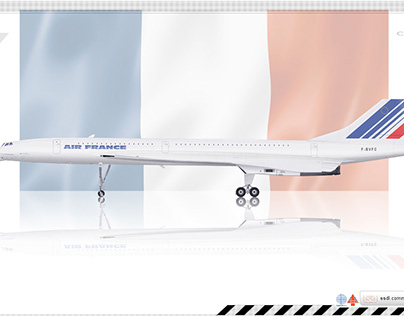 Air France Concorde Livery concept
