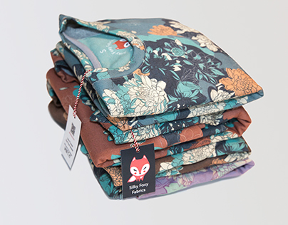 Floral illustrations and patterns for sweatshirts