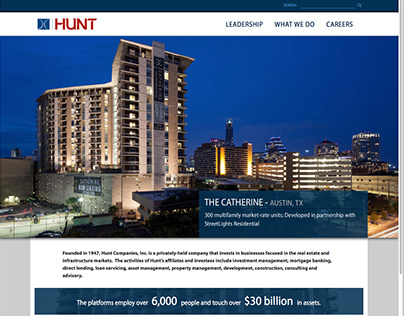 Responsive Web: Hunt Companies