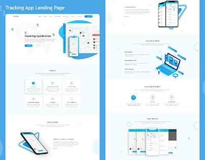 Tracking App Landing Page