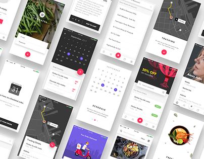 Food iOS App - Sketch file premium - Download now