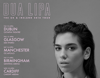 Dua Lipa UK & Ireland Tour Artwork