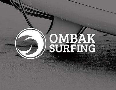 Ombak Surfing Logo Branding