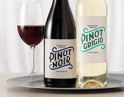 Packaging De La Gamme De Vin À La Carte