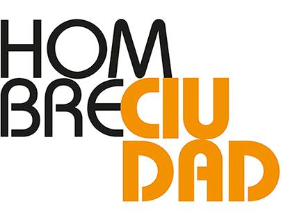 Logotipo y portadas HOMBRECIUDAD / Sic editorial