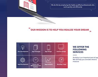 Web design. Concept. IU development company