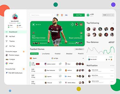 Sports Dashboard UI