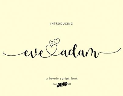 Eve Adam - Wedding Font