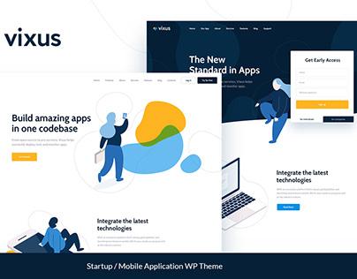 Vixus | Startup & Mobile App WP Landing Page Theme