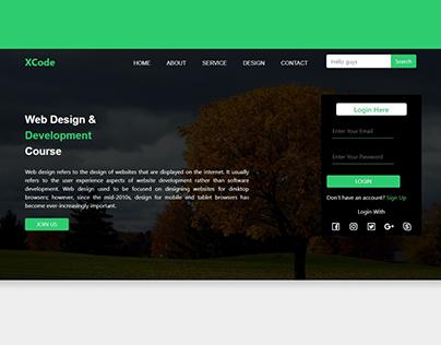 Website using HTML & CSS