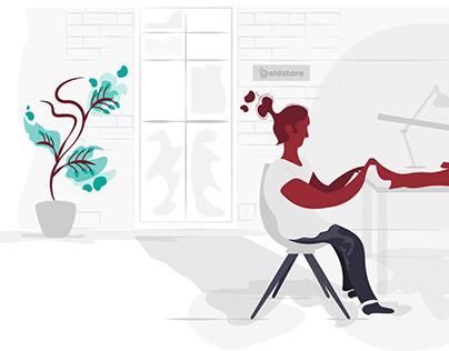 UI Graphic Design illustration