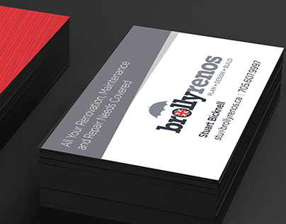 Brolly Renos Business Cards