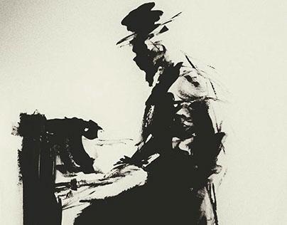 B&W Paint 5 - Piano players
