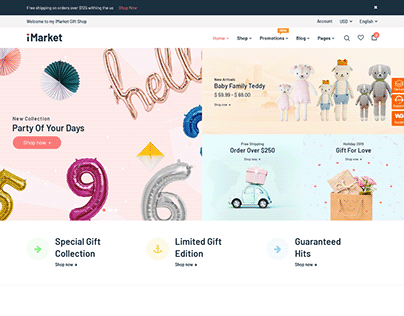 iMarket - Gift Shop WooCommerce WordPress Theme