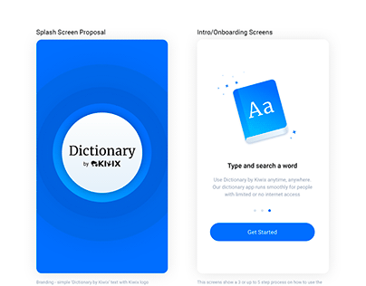 Dictionary app for people without internet access