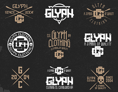 Glyph Clothing - Branding Elements