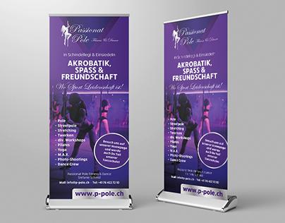 Roll-Up Bannergestaltung für Poledancing