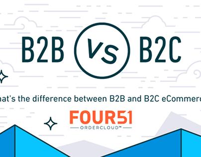 B2B vs B2C Infographic - Four51
