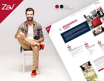 Website Redesign Zav Group Agency
