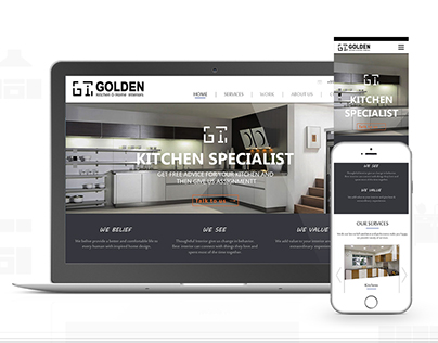 Golden Kitchen & home interior  responsive website