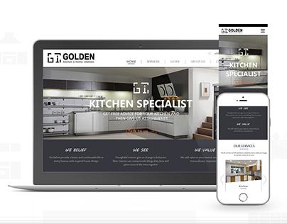 Golden Kitchen & home interior  responsive website
