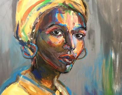 Portraits. Acrylic