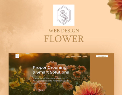 Web design-Flower
