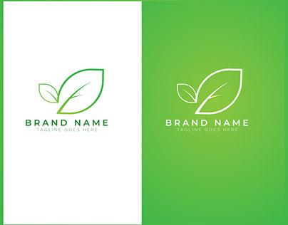 Simple Green Leaf Logo Concept