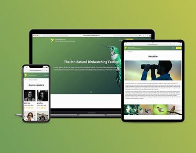 Batumi Birdwatching Festival - Web Design