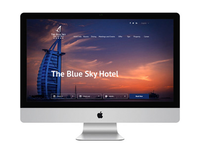 Blue sky hotel web design