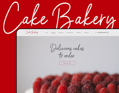 Landing page for Cake Bakery